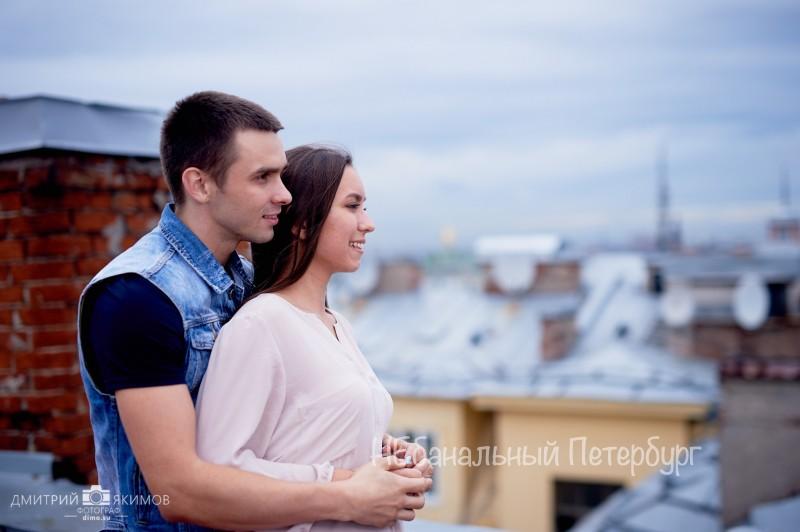 Чаепитие на крыше для двоих