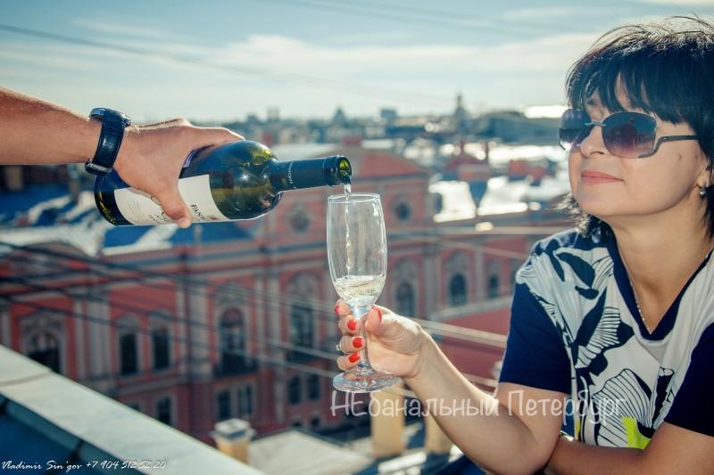 вино на крыше