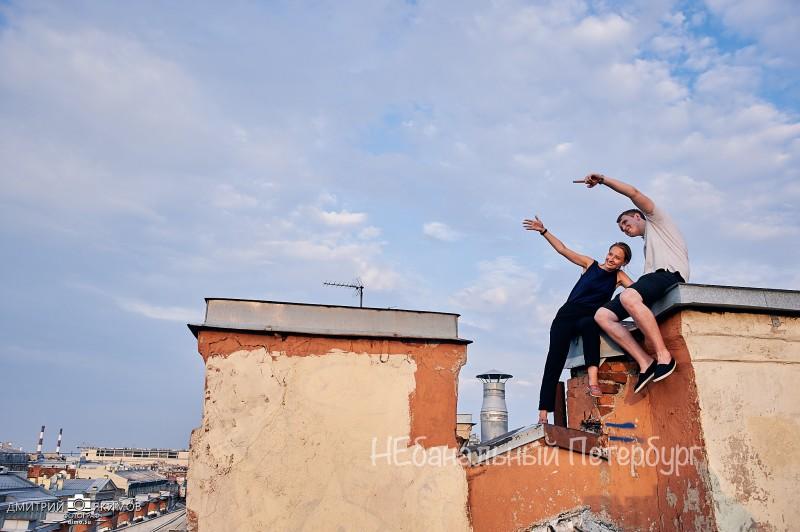 Экскурсия по крышам на литейном