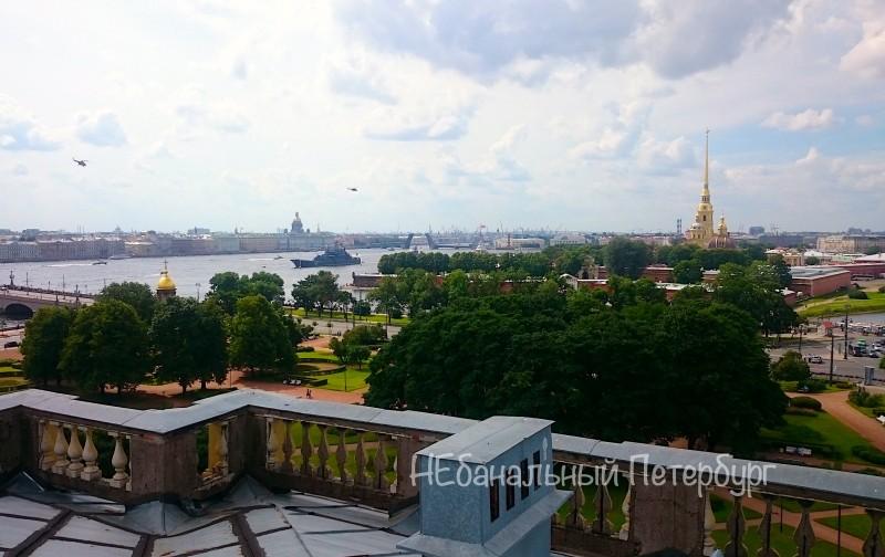 Крыша напротив Петропавловской крепости