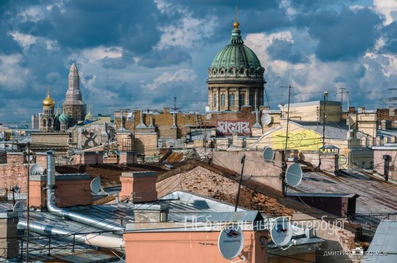 крыша с видом на Казанский собор