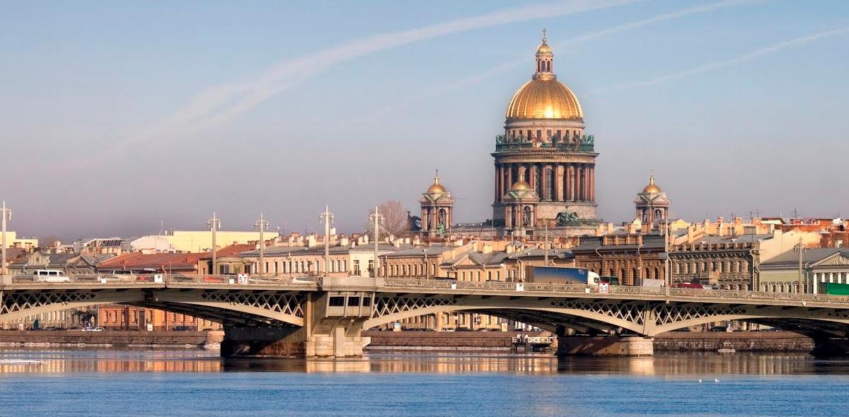 Красивый вид на Петербург
